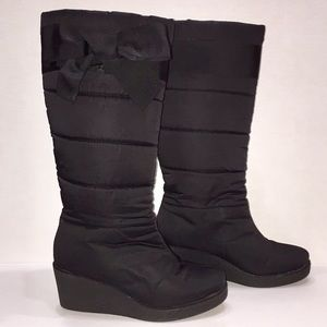 Kate Spade Cagney quilted boot with bow